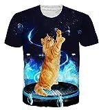 Goodstoworld Coloreado Brillante de la Impresión 3D Camiseta Unisex del Verano Ronda Personalizada Cuello Camiseta T-Tops para Mujer para Hombre XL