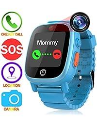 Feieldi commercio orologi per bambini GPS Tracker SOS chiamata anti,perso  Finder fotocamera al decollo Alarm contapassi bambini\u2026