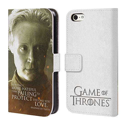 Offizielle HBO Game Of Thrones Jon Snow Character Portraits Brieftasche Handyhülle aus Leder für Apple iPhone 6 Plus / 6s Plus Brienne Of Tarth