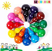 Richgv Crayons for Kids Toddler Non Toxic Washable Wax baby Palm-Grip Crayons Kids Drawing Painting Toys Multi