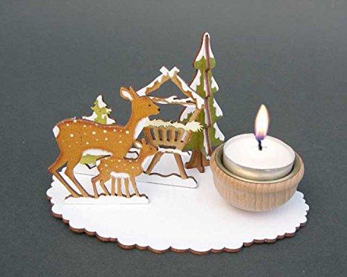 """Weihnachten - Bastel-Set """"Teelichthalter Rehfütterung"""""""