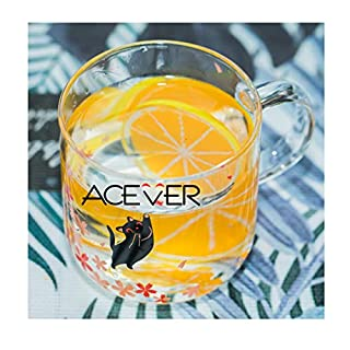 ACEVER Café Glass Coffee Mug Tea Cup Milk Mug Beer Cup | Microwave and Dishwasher Safe | Birthday and Christmas Gift | 12.5 oz Mug (Black Cat)