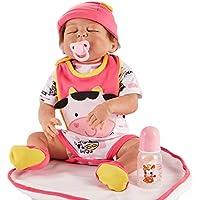 Juguete Regalo Reborn bebé juguetes muñeca realista recién nacido Lovely compañeros de juego juguetes para dormir princesa muñecas como niños. 23pulgadas de regalo de cumpleaños de Navidad