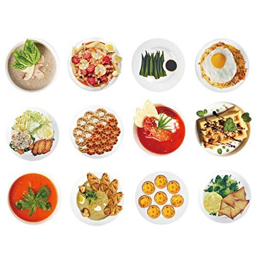 GZ-Zwölf Aromen von Lebensmitteln Wandaufkleber Aufkleber Küche Restaurant Wanddekorationen Moderne minimalistische Selbstklebende Wandmalerei -