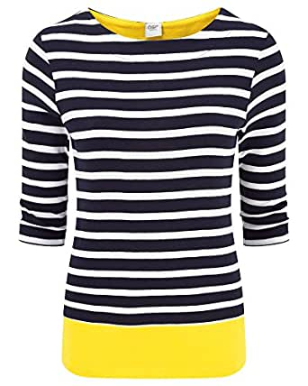 Cotton traders womens ladies wrinkle free boat neck pure for Best wrinkle free shirts