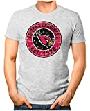 OM3® - Arizona-Badge - T-Shirt | Herren | American Football Shirt | M, Grau Meliert