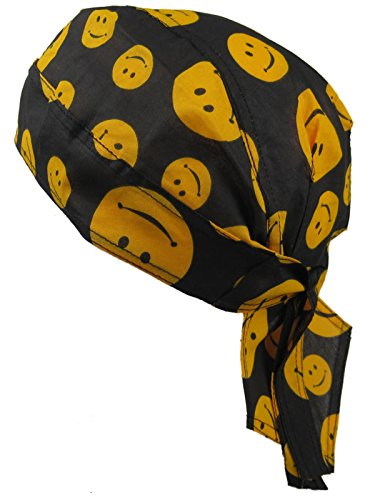 Fitted Smiley Face Bandana. Ideal for late 80s Acid House look