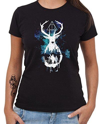 t-shirt-harry-potter-cervo-doni-della-morte-by-new-indastria-donna-s-nera