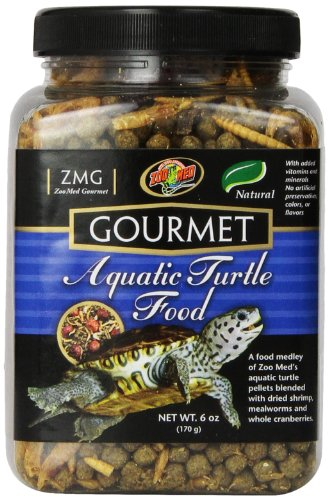 Zoo Med Gourmet Aquatic Turtle Pellets Blended Dried Shrimp Mealworms Food 6oz