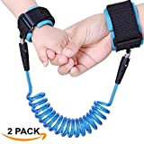 Anti-Lost Strap For Children 2 Pack By ECOTRONIK®: 1.5m Safety Harness For Toddlers And Kids, Adjustable Padded Cuffs For Comfort, Baby Walking Bungee Leash, For Crowded Places, Concerts, Zoo, Markets & More (BLUE SET)
