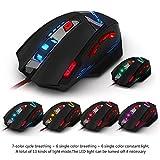 DLand Zelotes Gaming-Maus T90Profi-PC-Maus 9200DPI High Precision, mit USB-Anschluss, 8Tasten, mit 7LED-Modi, Gewichts-Tuning-Set, kompatibel mit Windows 7, 8, XP, Vista, ME, 2000und so weiter. - 6