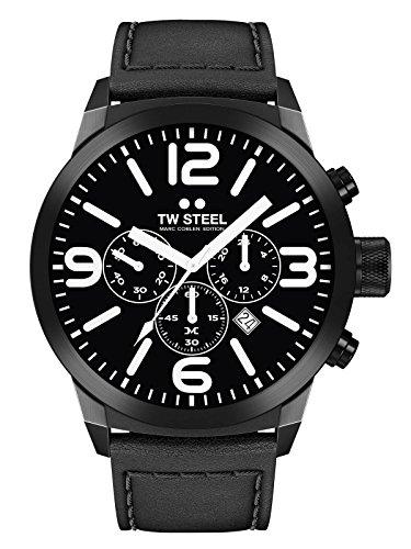 TW Steel Herren Uhr Armbanduhr Chrono Marc Coblen Edition TWMC42 Lederband