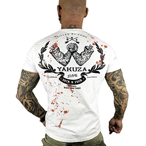 Yakuza Original Herren Killed By Fame T-Shirt Weiß