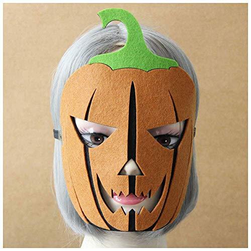 YaPin Halloween Kürbis Maske Schmuck Horror Gesichtsmaske Kind Erwachsene Unisex Half Face Cos Maske (Kürbis-maske Kinder Für)
