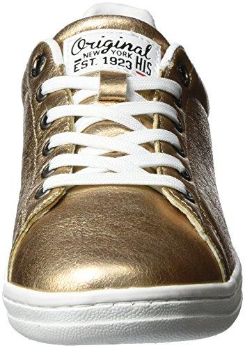 HIS - 16mcb003, Scarpe da ginnastica Donna Gold (bronce)