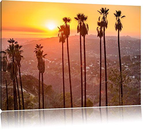 Hollywood Hills Format: 60x40 cm auf Leinwand, XXL riesige Bilder fertig gerahmt mit Keilrahmen, Kunstdruck auf Wandbild mit Rahmen, günstiger als Gemälde oder Ölbild, kein Poster oder Plakat