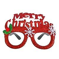 ZFWB Merry Christmas Decoration Santa Snowman Elk Glasses Party Wedding Ornaments Spain E