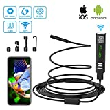 Endoscope Wifi Android Iphone Camera Endoscopique USB, 2 Mégapixels 1200P HD Camera Inspection IP68 Etanche Caméra Endoscopique avec 8 LED pour IOS, Android, iPad, Mac, PC, Laptop(11.5ft)