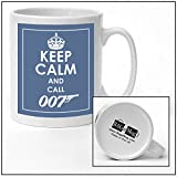 Keep Calm 007 – Tazza di ceramica blu nuovo regalo unico facile per il ventilatore di James Bond