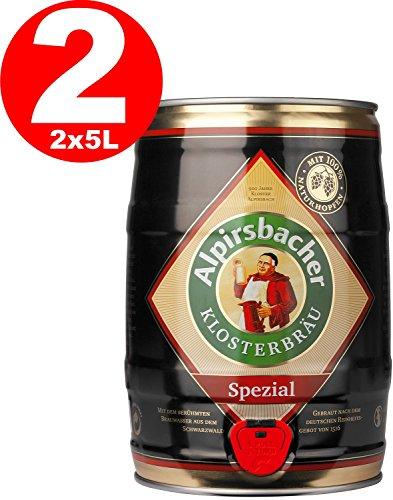 2 x Alpirsbacher Spezial 5,2% vol. 5 Liter Partyfass -