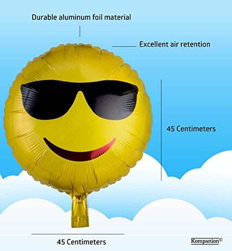 Emoji Party Ballons 25 Pack Party Ausstattung, Packung mit Verschiedenen Emoticon Helium Ballons - 7