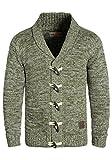 !Solid Prewitt Herren Strickjacke Cardigan mit Schalkragen aus 100% Baumwolle Meliert, Größe:L, Farbe:Ivy Green (3797)