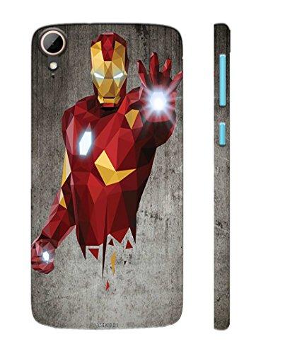 Tecozo Designer Printed Back Cover / Hard Case for HTC Desire 828 (Metal Man Design/Comics & Cartoons) - Red - D16