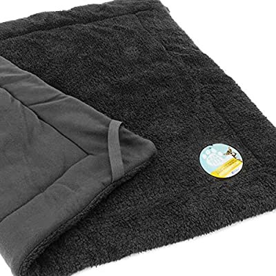 Me & My Pets Black Soft Fleece Cover for Large Raised Bed from Me & My Pets