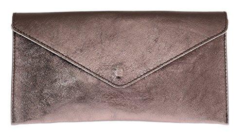 Dark Bronze Leder Schuhe (Girly HandBags Damen Violetta Tasche, Braun (Dark Bronze), Einheitsgröße)