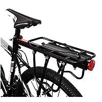Aluminum Alloy Bike Carrier Rack Adjustable 110 Lbs Capacity Bicycle Accessories Cargo Rack for Mountain Bike Road Bike Garage