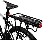 Aluminum Alloy Bike Carrier Rack Adjustable 110 Lbs Capacity Bicycle Accessories Cargo Rack for Mountain Bike