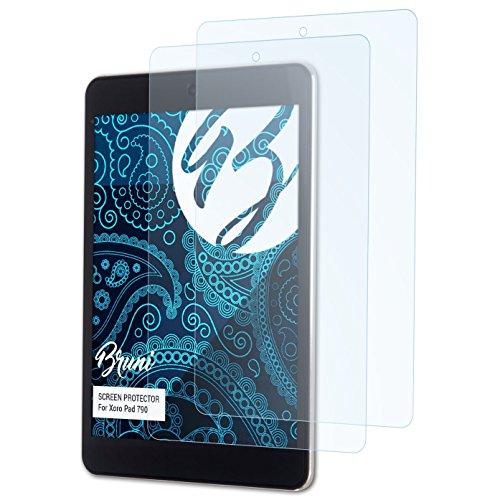 Bruni Schutzfolie für Xoro Pad 790 Folie, glasklare Displayschutzfolie (2X)