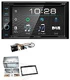 caraudio24 Kenwood DDX4019DAB USB DVD DAB MP3 Bluetooth 2DIN Autoradio für Peugeot Expert 207 307 Partner Profi schwarz