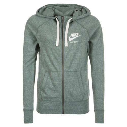 Nike Damen W NSW Gym Vintage Hoodie Fz Kapuzenjacke, Grün (Clay Green/sail), M