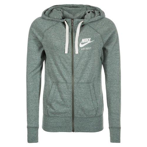 Nike W NSW GYM Vntg Hoodie FZ Felpa Donna Clay Verde/Sail XL c2M