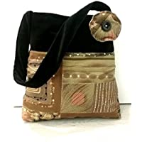 Schultertasche Samt und Batik- handmade in italy