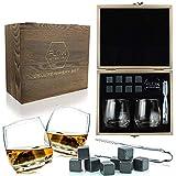 FLOW Barware - Set di bicchieri da whisky a dondolo e pietre da whisky, in confezione regalo