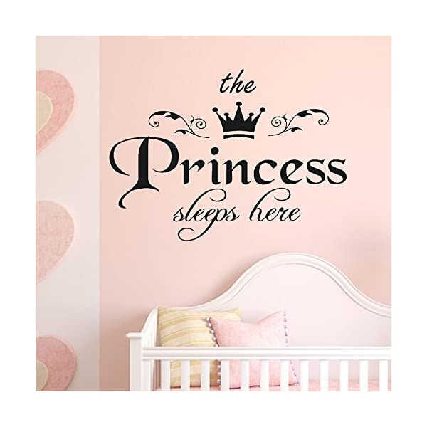 1PC The Princess Decal Living Room Bedroom Vinyl Carving Wall Decal Sticker