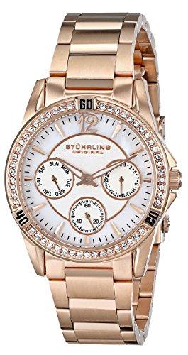 Stührling Original 914.04 - Reloj analógico para mujer, correa de acero inoxidable, color oro rosa