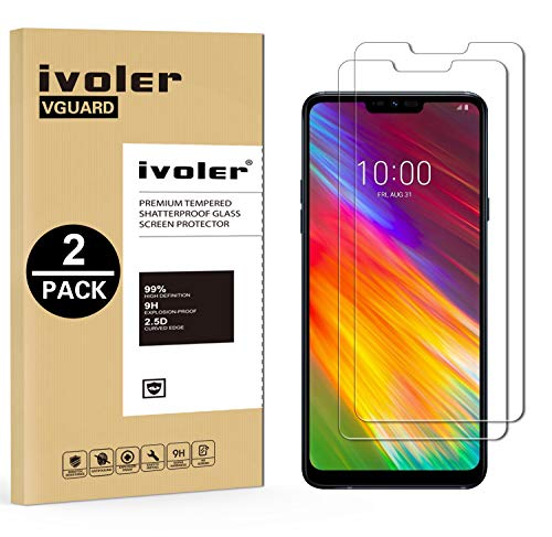 iVoler [2 Stücke] Panzerglas Schutzfolie für LG Q9 / LG G7 Fit/LG G7 Fit Plus/LG G7 One [9H Härte] [Anti- Kratzer] [Bläschenfrei] [2.5D Runde Kante]