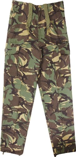 Kids Army Camouflage Combat Trousers - Ages 3-13 Yrs (Age 7-8)