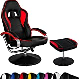 Racing TV Sessel GT Relax Racer mit Fußhocker, 8 Farbvarianten, 360 Grad drehbar, verstellbare Rückenlehne