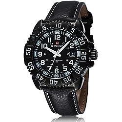 Man, quartz watch, fashion, personality, metal, PU leather, M0118
