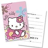 Monster Parties Hello Kitty Bamboo Einladungskarten