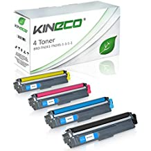 Kineco - Pack de 4 Cartouches de toner compatible avec Brother TN241 TN245 HC noir, cyan, magenta, jaune DCP-9020 CDW HL-3140 CW HL-3150 CDN CDW HL-3170 CDW MFC-9130 CW MFC-9140 CDN MFC-9330 CDW MFC-9340 CDW