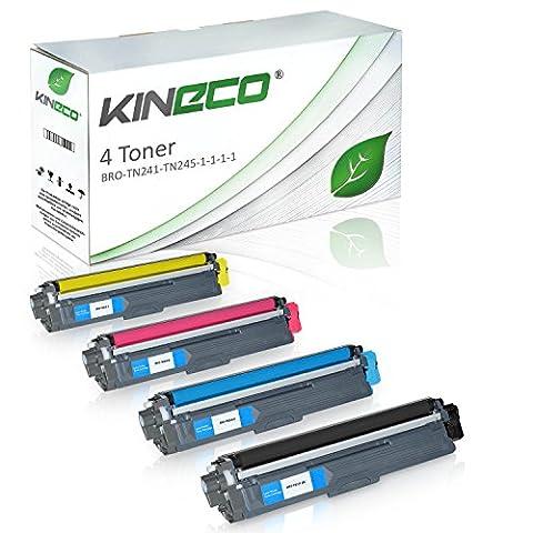 Kineco - Pack de 4 Cartouches de toner compatible avec