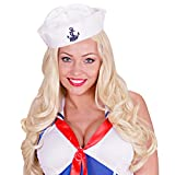 Seemann Hut Matrose Matrosenhut Maritime Mütze Seefahrer Kappe Marine Kostüm Kopfbedeckung Matrosenmütze mit Anker