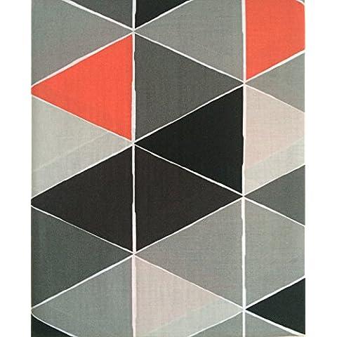 Geométricas gris doble hoja plana, de 300 hilos, algodón egipcio, almohada
