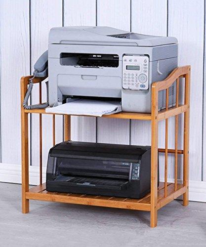kicthnslf Küchenregal Organisatoren und Lagerung Bambus Schreibtisch Regal Drucker Lagerregal Kleine Kühlschrank Backofen Rack Büro Aktenschrank 6 Größen Optional,53 * 38 * 55 cm (Kleiner Schreibtisch Backofen)