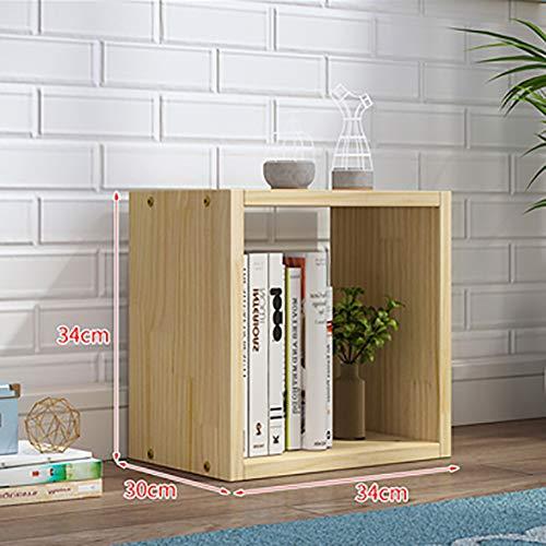 Quadrata Legna Libreria, da Terra Combinazione Libera Semplice Deposito Organizzatore Mensola unità Bookshelf, Taglia Opzionale-n